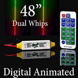 "48"" DUAL DIGITAL ANIMATED WHIPS"